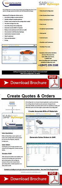 Download the CIS Configurator - SAP Nusiness by design integration brochure