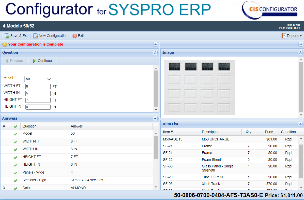 Quote Builder Car Configurator with Syspro ERP